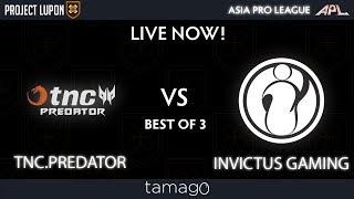 TNC Predator vs Invictus Gaming Game 1 (BO3) | Asia Pro League