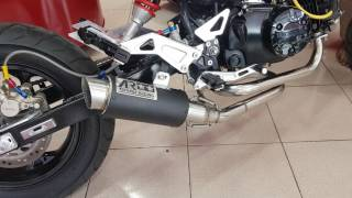 Double Exhaust for honda msx 125 grom ท่อ ar titanium ของ