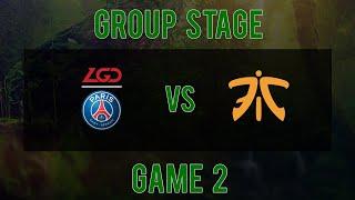 [Kuala Lumpur Major] PSG.LGD vs FNATIC - Game 2 - Group Stage