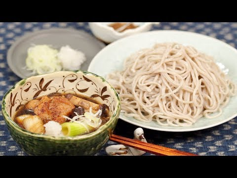 Chicken Tsukesoba Kamo Nanban-Style Recipe (Soba Noodles with Hot Dipping Broth) | Cooking with Dog