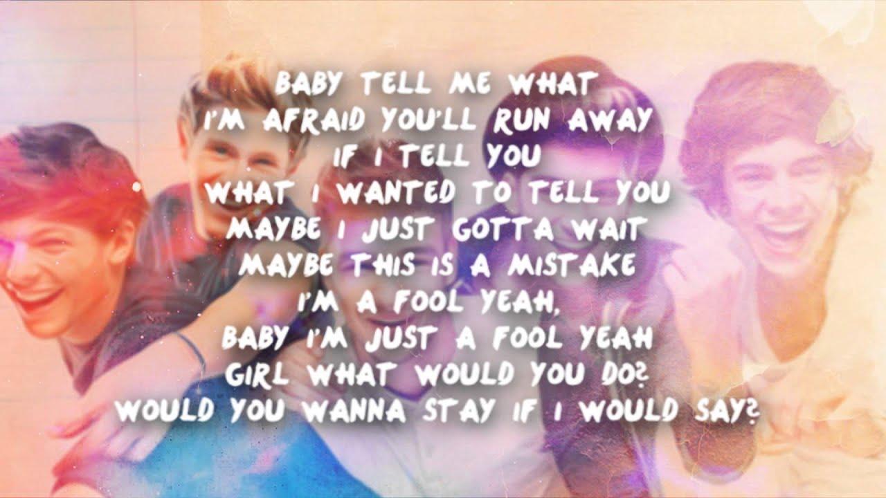 one direction lyrics last first kiss - photo #19
