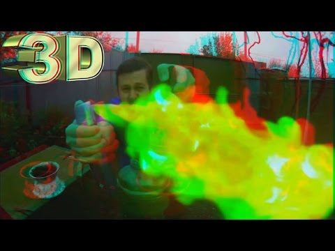 Lord of Fire and Smoke in 3D ! 3D VIDEO Extreme !