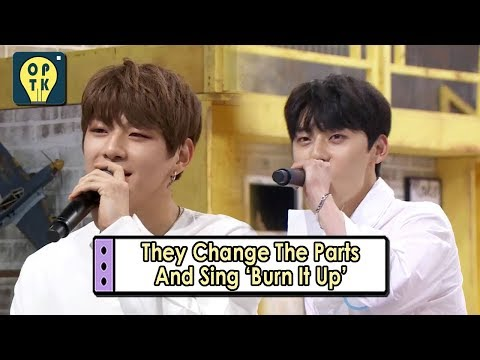 [Oppa Thinking - Wanna One] They Change The Parts And Sing 'Burn It Up' 20170911