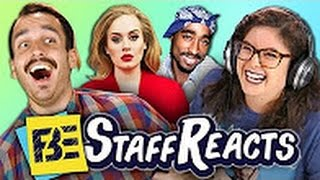 REACT - GUESS THAT SONG CHALLENGE #8 (ft. FBE STAFF) #react