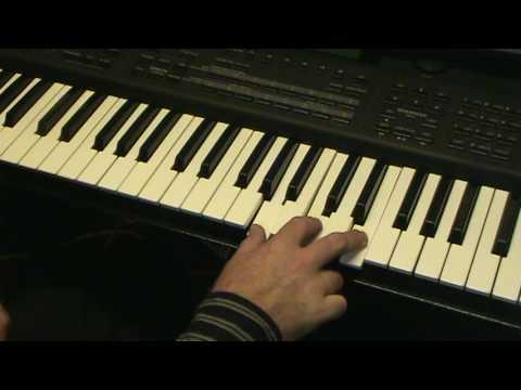 como tocar las notas ( acordes ) en el piano Jimmy Alvarez