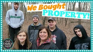 WE BOUGHT PROPERTY TO BUILD OUR DREAM HOME!