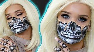 MELTING ROBOT Halloween Makeup! | Sylvia Gani
