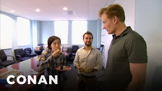Conan Busts His Employees Eating Cake  - CONAN on TBS