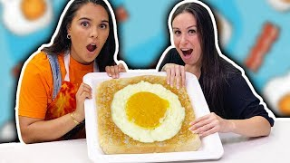 We made a MASSIVE Egg-In-A-Hole!!!  🍳➡️🍞