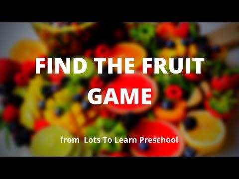 Fun Preschool Activity Video | Find The Fruit Game