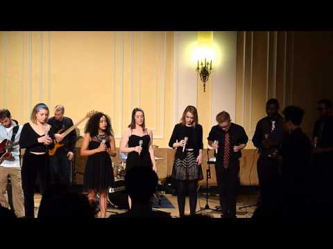 Performance with the NEC Gospel Ensemble April 2014.