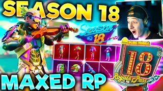 MAXED SEASON 18 ROYALE PASS! 100 Tiers + Rewards! | PUBG Mobile