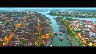Hoi An Ancient Town Vietnam - Drone 4k