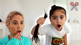 ELLE CUT HER OWN HAIR OFF!!! **CATHERINE FREAKS OUT**