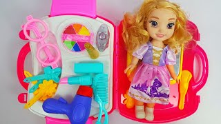 Unboxing Princess Barbie Doll Makeup kit And fashion Accessories ! Video for kids