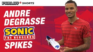 Andre De Grasse and his Sonic the Hedgehog spikes design | PARLAY SHORTS| CBC Sports