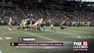 Raiders defeat Packers 22-21