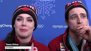 Canadian figure skaters were 'screaming' the national anthem