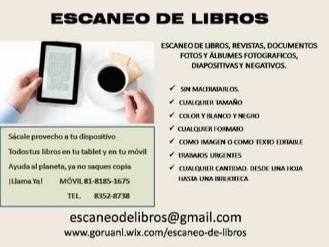ESCANEO Y DIGITALIZACIÓN DE LIBROS Y DOCUMENTOS