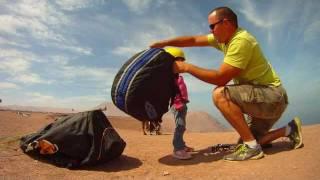 Vol en parapente biplace à 3 ans