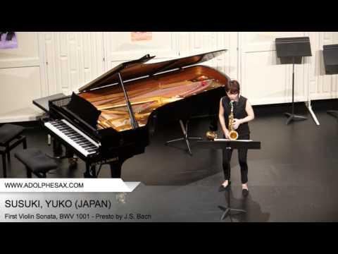 Dinant 2014 SUSUKI Yuko First Violin Sonata, BWV 1001 Presto by J S Bach