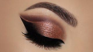 ⭐ Copper Cut Crease Glitter MakeUp Tutorial   Melissa Samways ⭐