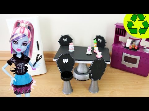 How to Make a Fangtastic Doll Dining Room Table and Chair