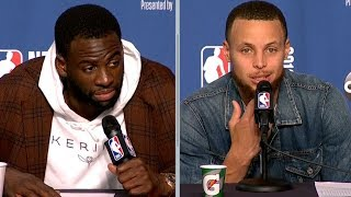 Steph Curry & Draymond Green Postgame Interview - Game 3   Warriors vs Cavaliers   2018 NBA Finals