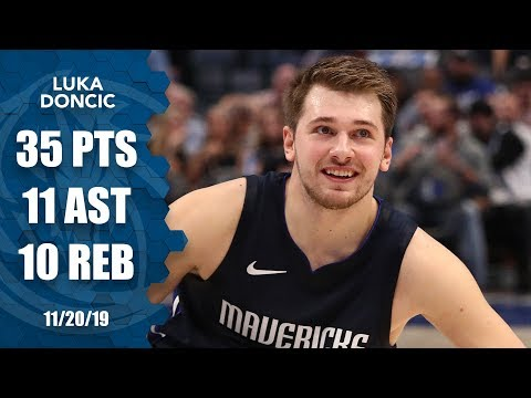 Luka Doncic outscores Warriors in 1st Qtr, records historic triple-double   2019-20 NBA Highlights