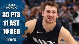 Luka Doncic outscores Warriors in 1st Qtr, records historic triple-double | 2019-20 NBA Highlights