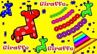 Colors for Children Giraffe Paints Colors !! Fun colors for kids Baby Monster
