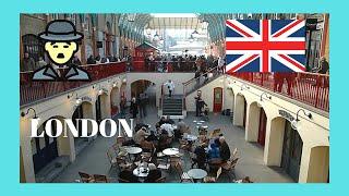 LONDON: CHARLIE CHAPLIN street performer at COVENT GARDEN