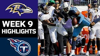 Ravens vs. Titans | NFL Week 9 Game Highlights