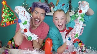 HOLIDAY SLIME CHALLENGE!! With JOEY GRACEFFA! **EPIC HOLIDAY SLIME**