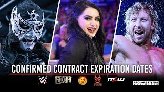 Confirmed Wrestler Contract Expiration Dates