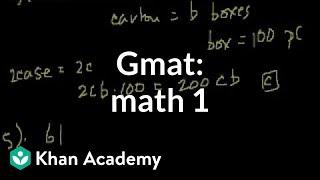 GMAT Math: 1