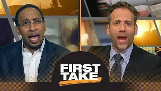 First Take's heated NBA MVP debate after LeBron James says he'd vote for himself | First Take | ESPN
