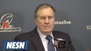 Bill Belichick Patriots vs. Chiefs AFC Championship Postgame Press Conference