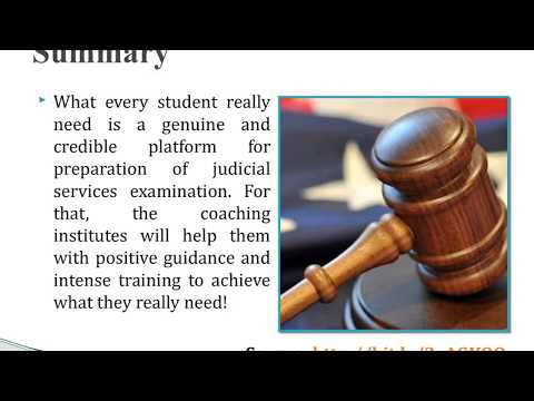 How to do preparation for judicial services examination?