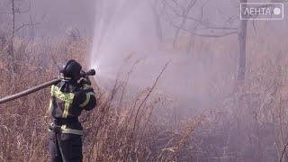 На территории Артёма прошли пожарные учения
