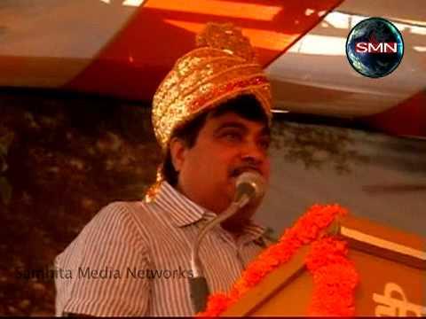 Shri Nitin Gadkari in Vrindavan: 22.10.2010