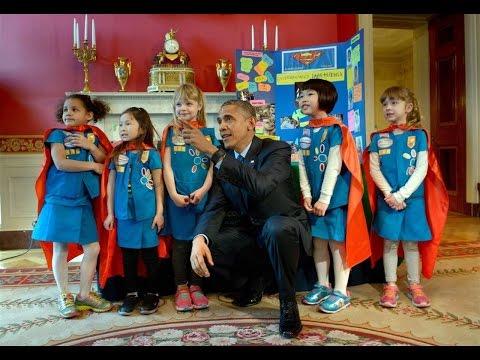 President Obama Tours 2015 White House Science Fair