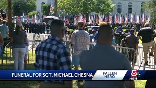 Emotional day as family, officers attend Chesna funeral