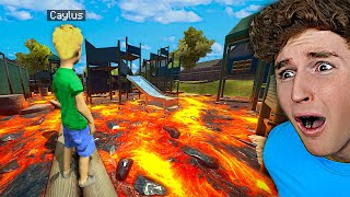 Can You Survive FLOOR IS LAVA On The PLAYGROUND?!
