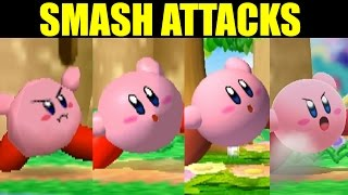 EVOLUTION OF SMASH ATTACKS In Super Smash Bros (Original 12 Plus Melee Newcomers) (COMPARISON)