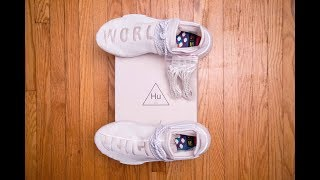 The CLEANEST Hu NMD    Adidas Human Race Holi NMD Blank Canvas by Pharrell Williams Review