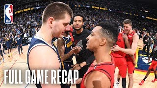TRAIL BLAZERS vs NUGGETS   The Season Comes Down To The Wire   Game 7