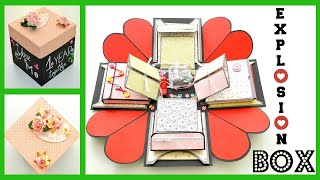 DIY Crafts  - How to make an Exploding Box Card - Explosion Box Gift - Scrapbooking Tutorial