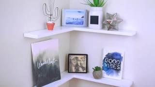 Hướng dẫn tự làm kệ trang trí phòng khách, phòng ngủ đơn giản, tiết kiệm