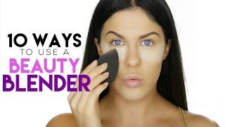 10 WAYS TO USE A BEAUTY BLENDER   BEAUTY BLENDER HACKS!!